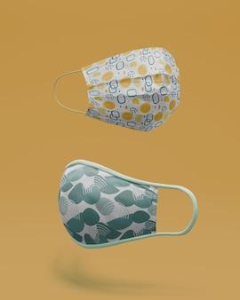 Handgemachte gesichtsmasken mit modellkonzept