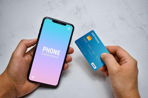 Handheld-smartphone und kartenmodell