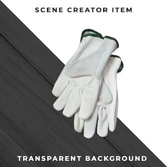 Handschuhe isoliert mit beschneidungspfad.