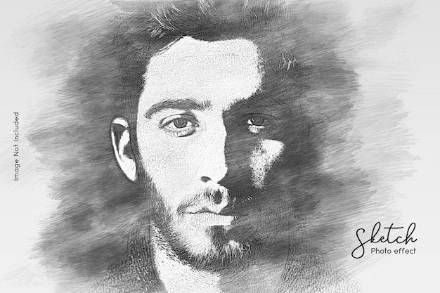 Handskizze fotoeffektvorlage