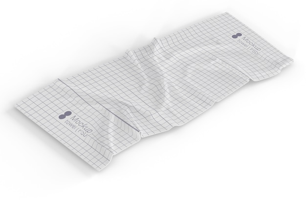 Handtuch mit quadraten mockup