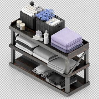 Handtücher auf einem holzständer