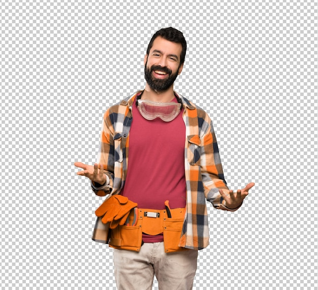 Handwerker mann lächelnd