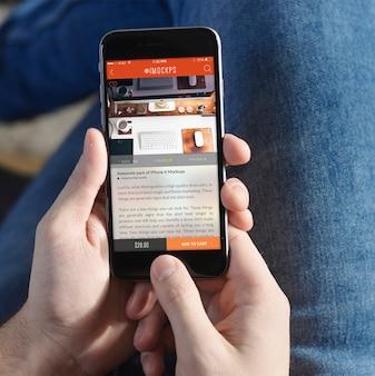 Handy-bildschirm mock-up-design