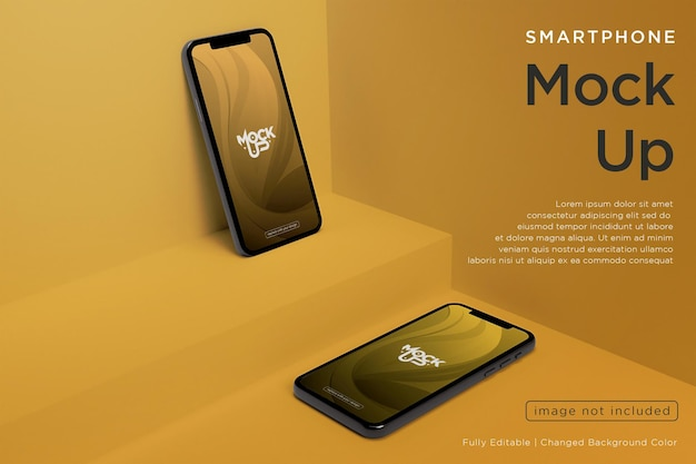 Handy-bildschirm mockup-design