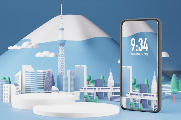 Handy-modell 3d-rendering