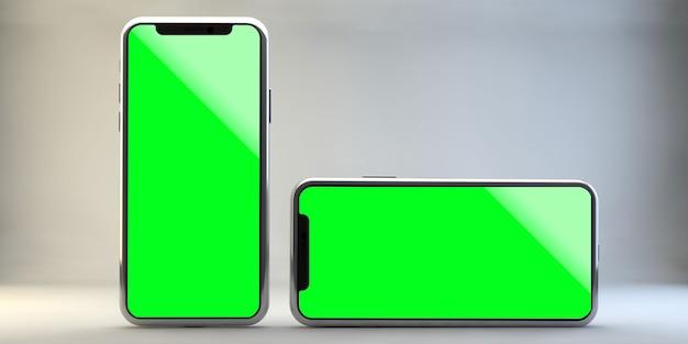 Handy-modell auf weißer wand