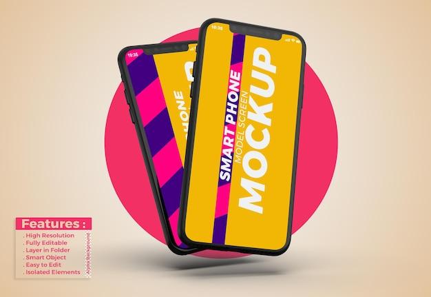 Handy-modell mit bearbeitbarem design und farben