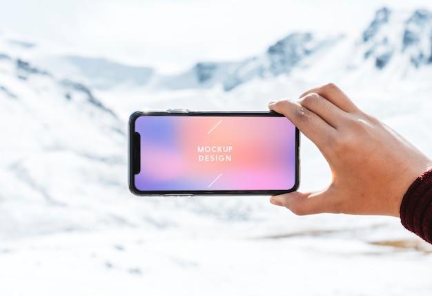 Handy-modellentwurf durch die himalaja-berge