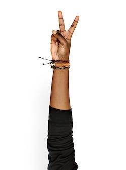 Handzeichen isoliert