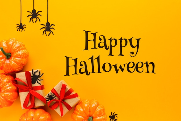 Happy halloween-mock-up-nachricht