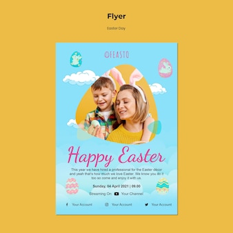 Happy ostern flyer vorlage