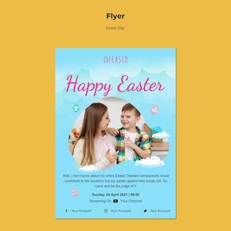 Happy ostern flyer vorlage