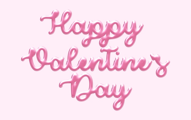Happy valentinstag 3d textstil modell