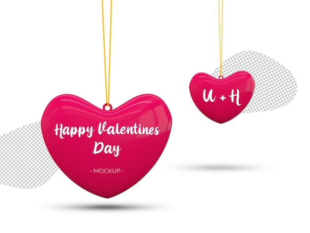 Happy valentinstag herzen modell