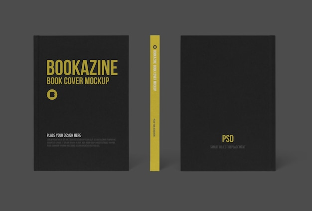 Hard book cover mockup design