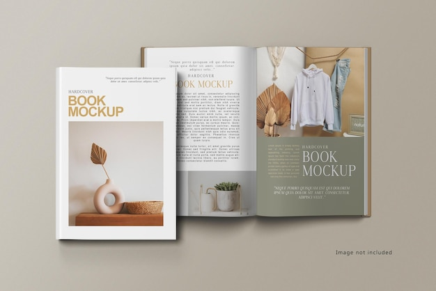 Hardcover buch mockup design isoliert