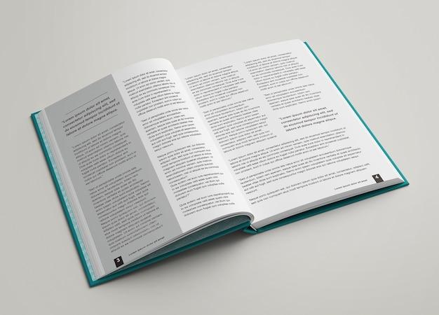 Hardcover offene ansicht innerhalb modell isoliert