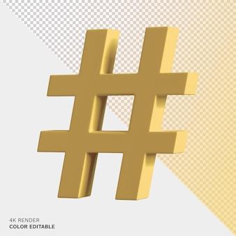 Hashtag-symbol rendern beschneidungspfad Premium PSD