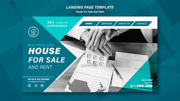 Haus, das landingpage verkauft