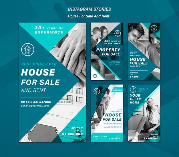 Haus, das social-media-geschichten verkauft