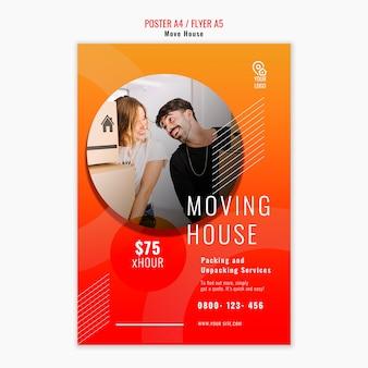 Haus flyer vorlage verschieben