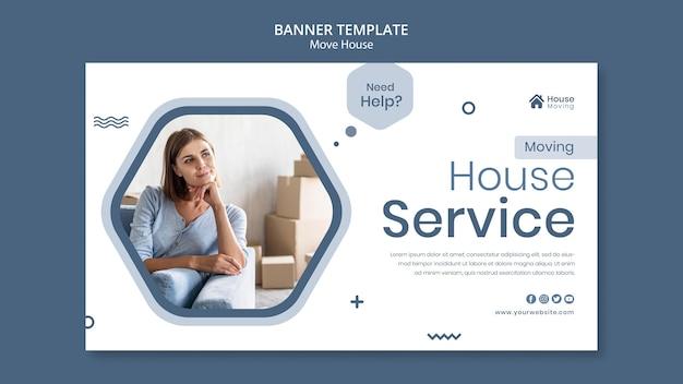 Haus umzug service banner vorlage