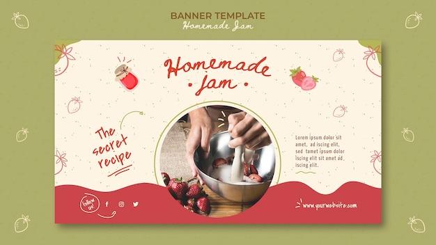 Hausgemachte marmelade banner vorlage