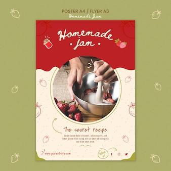 Hausgemachte marmelade post vorlage