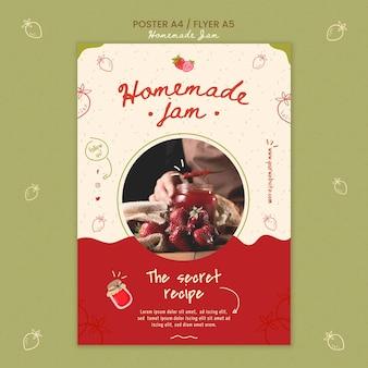 Hausgemachte marmelade poster vorlage