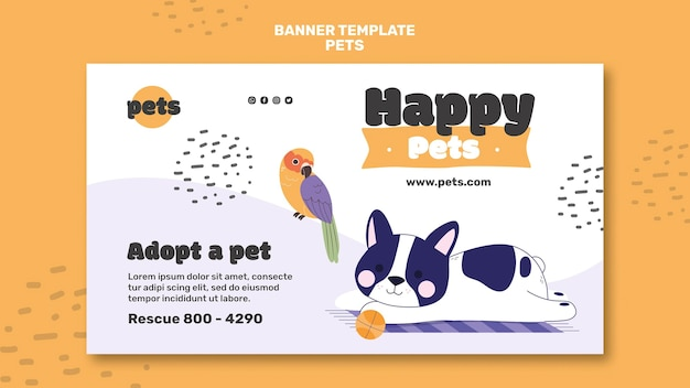 Haustier adoption banner vorlage