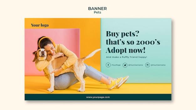 Haustiere banner vorlage thema