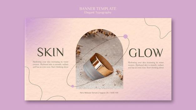 Hautpflege-banner-vorlage