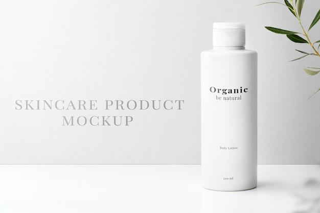 Hautpflegeflasche mockup psd für schönheitsprodukte in minimalistischem design