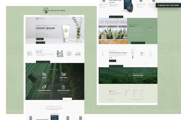 Health pro website seite