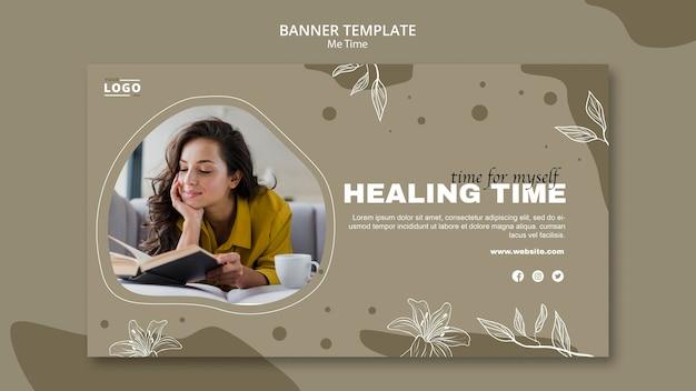 Heilungszeit-banner-vorlage