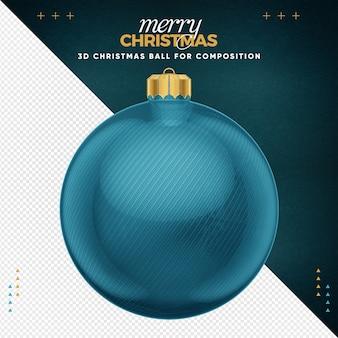Hellblauer weihnachtsball für komposition