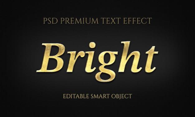 Helles texteffekt-design