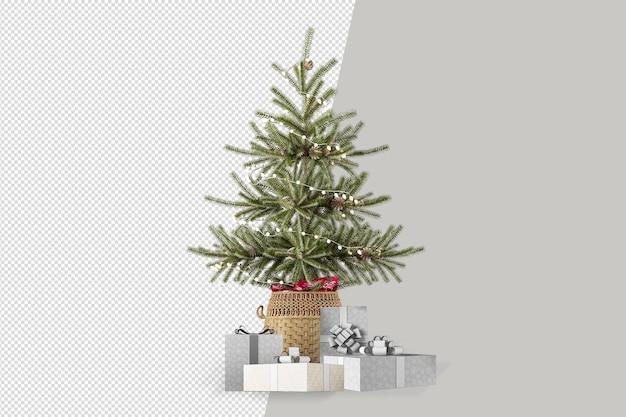 Hellgrün verzierte weihnachtsbaum geschenkbox