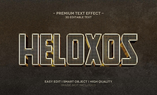 Heloxos 3d-textstil-effektvorlage