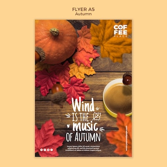 Herbst flyer vorlage stil