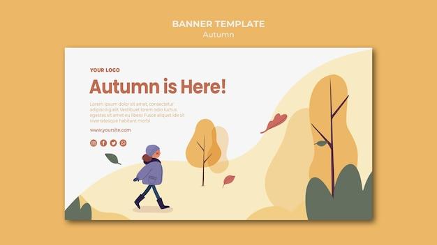 Herbst ist hier banner vorlage