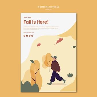 Herbst ist hier flyer vorlage