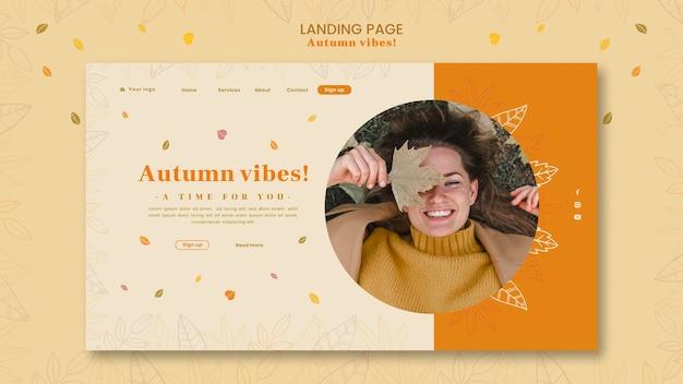 Herbst konzept konzept landing page vorlage