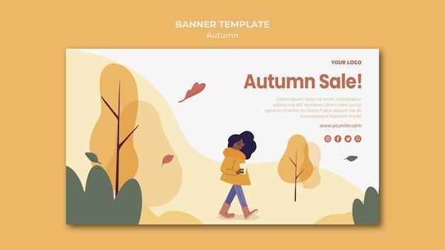 Herbst verkauf banner vorlage