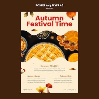Herbstdruckvorlage mit foto