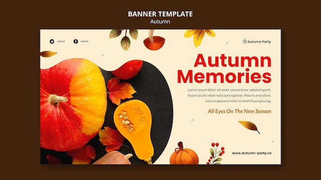 Herbstfahnenschablone mit foto