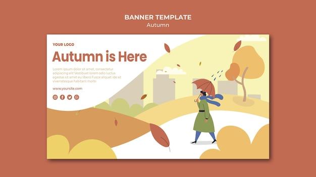 Herbstkonzept banner vorlage