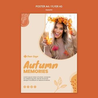 Herbstkonzeptplakatschablone