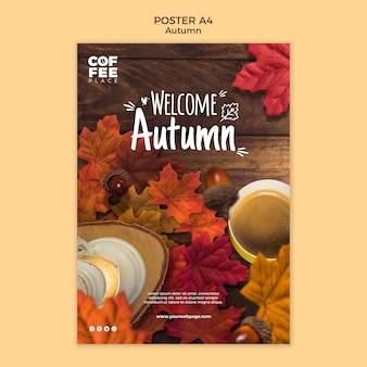 Herbstplakatschablonenentwurf